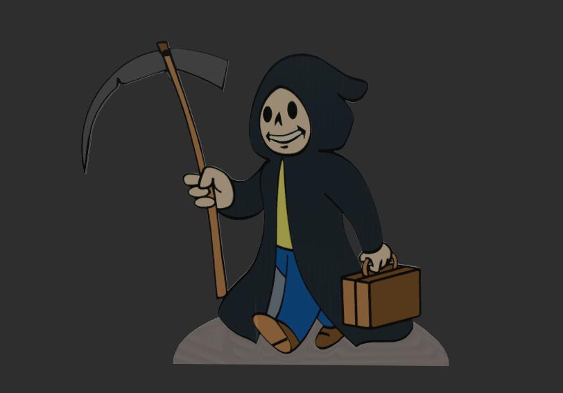 Grim Reaper Vault-Boy Cutout
