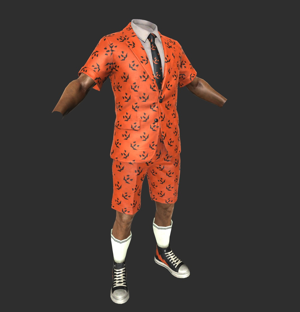 Jack O'Lantern Short Suit