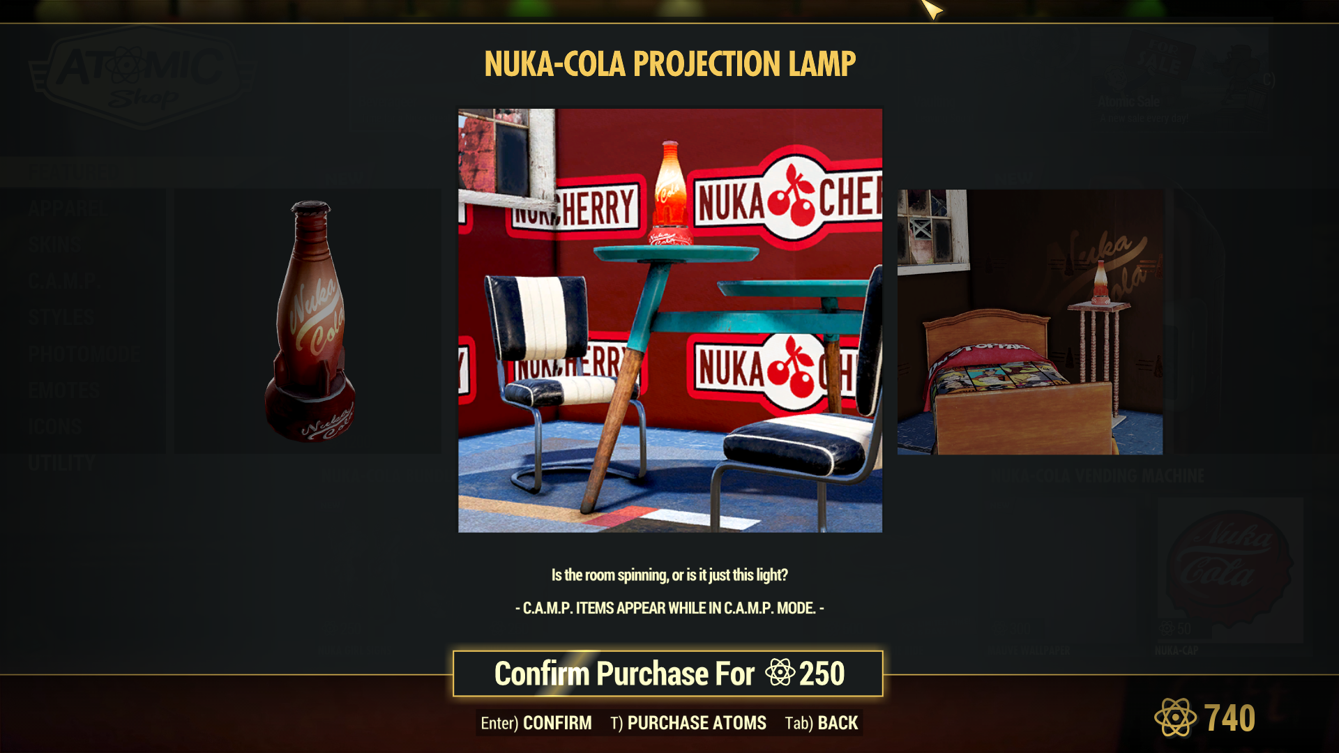 Nuka-Cola Projection Lamp