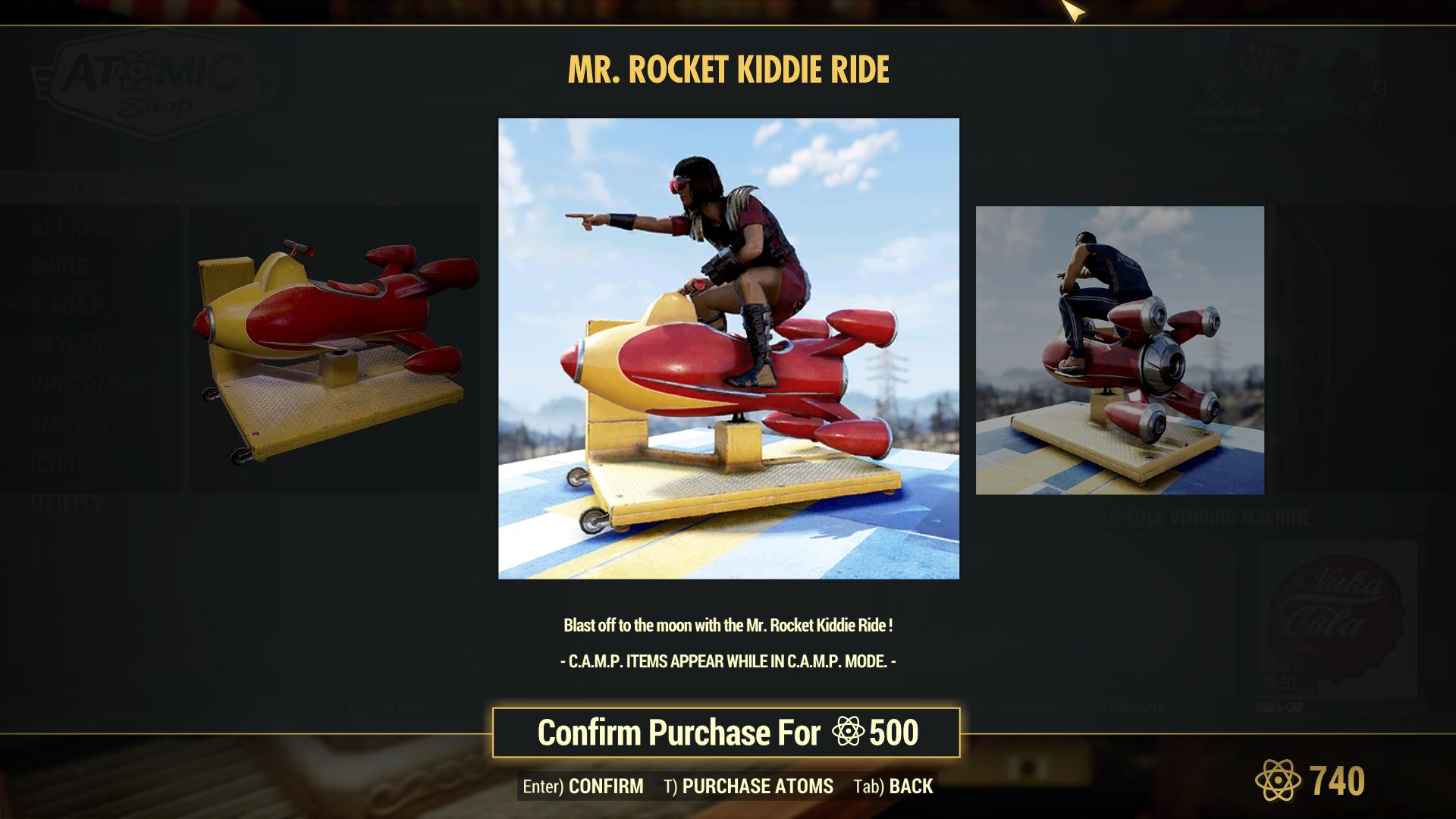 Mr. Rocket Kiddie Ride