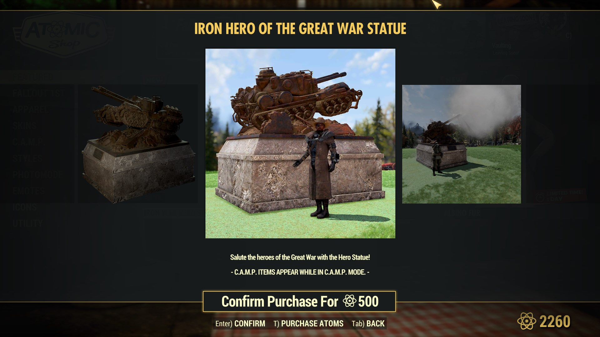 Iron Hero of the Great War Statue